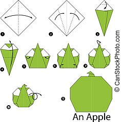 origami An Apple.