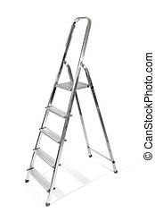 Step - ladder, isolated on white background