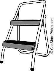 Step Ladder - Step ladder isolated on a white background.