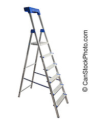 Step Ladder - Step ladder isolated on white background