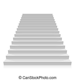 Step on a white background
