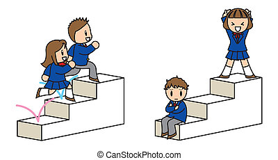 Step up - This illustration is in the state which goes up...