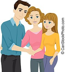 Stepfather Introduction - Illustration Featuring a Mother ...
