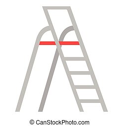 Stepladder flat illustration. City life and everyday objects series.
