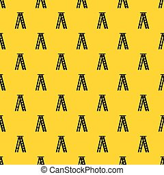 Stepladder pattern seamless vector repeat geometric yellow for any design