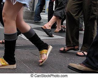 Stepping - A street aspect.