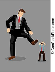 Stepping on Others Vector Illustration - A giant rich man ...
