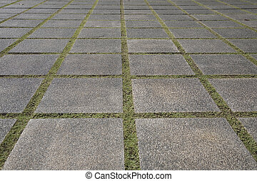 stepping stones - a stepping-stone pathway at a garden or ...