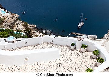 Steps at Oia Santorini Greece