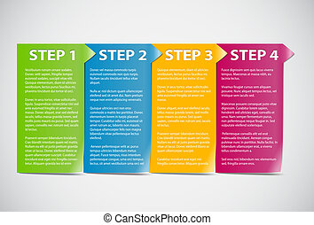 Cards with steps