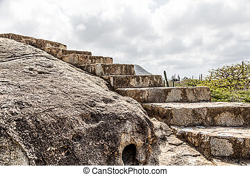 Steps Carved in Boulders - Stone steps carved into boulders...