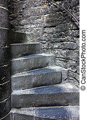 Steps in old castle