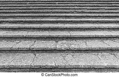 Steps of an old stone staircase close up. - Steps of an old ...