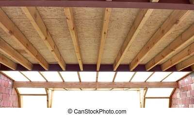 steps of construction of a interior roof