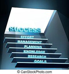 steps of success - illustration of steps of success