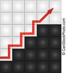 Steps of success. Vector illustration.
