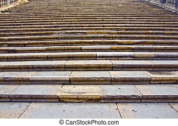 Steps of the Cathedral of Girona Catalonia Spain