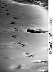steps on the ocean shore
