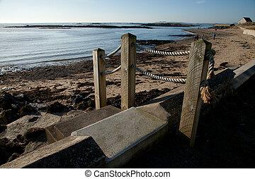 steps., plage
