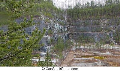 Steps quarry. Russia.