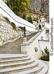 steps to Assumption Monastery of the Caves, Crimea - steps...
