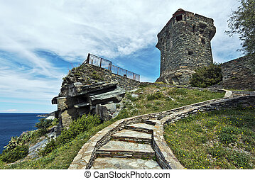 Steps to Paolina Tower in Corsican Nonza village - Steps to ...