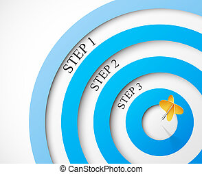 Steps to the target. Eps 10