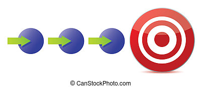 steps to the target illustration