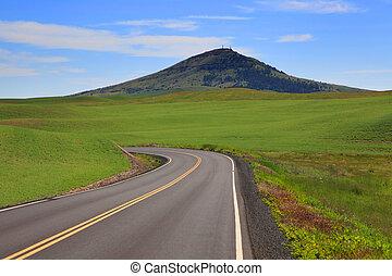 Steptoe Butte - Beautiful road to Steptoe butte in Palouse