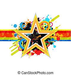 ster, fantastisch, ontwerp, achtergrond