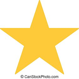 ster, goud, illustratie, achtergrond., vector, witte , pictogram