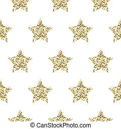 ster, goud, pattern., seamless, shimmer, folie, schitteren