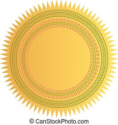 ster, gouden zegel