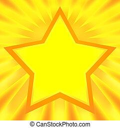 ster, het glanzen