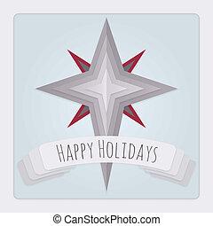 ster, kaart, feestdagen