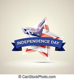 ster, nationale, kleuren, vlag, dag, onafhankelijkheid