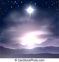 ster, nativit, kerstmis, bethlehem