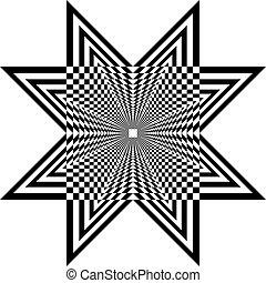 ster, schild, pseudo, achtergrond, illusie, arabesk, transparant