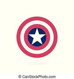 ster, superhero, schild