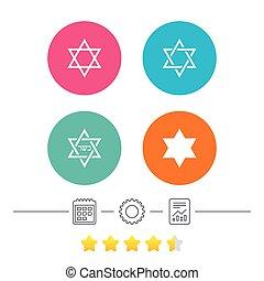 ster van david, icons., symbool, van, israel.