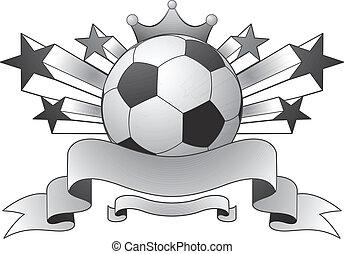 ster, voetbal, embleem