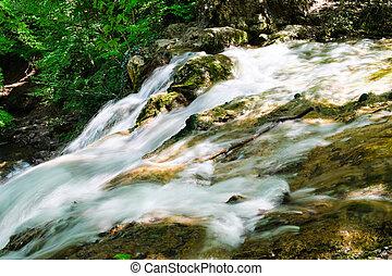 sterams of waterfall
