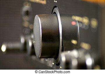 Stereo - Closeup of volume knob of an hi-fi
