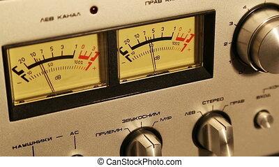 stereo decibel meters - part of sound equipment