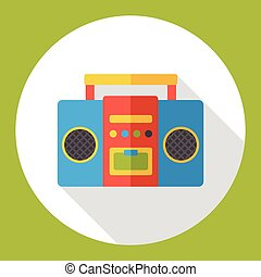 stereo electronics flat icon
