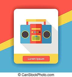 stereo electronics flat icon
