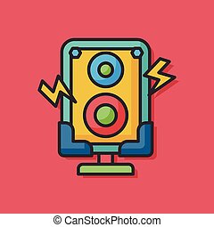 stereo equipment vector icon