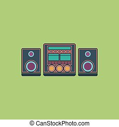 stereo flat icon