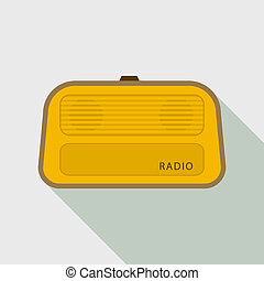 Stereo radio icon, flat style