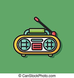 stereo radio vector icon